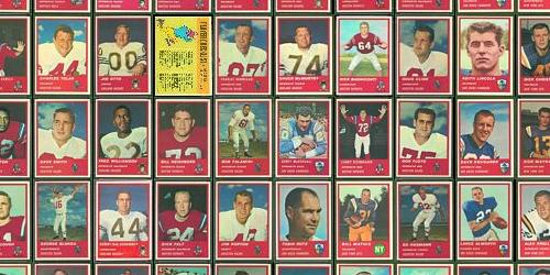 Virtual Uncut Sheet of 1963 Fleer football cards