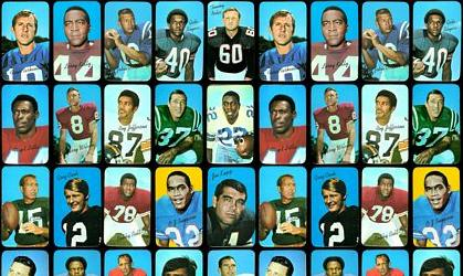 Virtual Uncut Sheet of 1970 Topps Super football cards