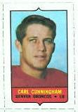1969 Topps 4-in-1 Carl Cunningham stamp