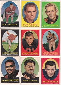 1958 Topps CFL football cards