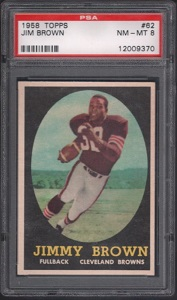 1958 Topps Jim Brown rookie football card