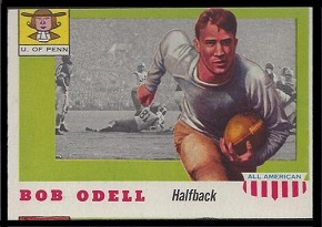 1955 Topps All-American Bob Odell football card