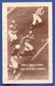 1948 Topps Magic football card - Yale vs. Columbia