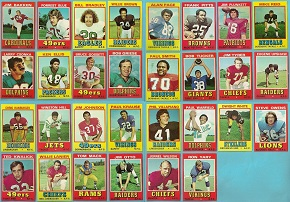 1974 Wonder Bread football cards