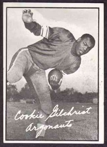 1961 Topps CFL Cookie Gilchrist football card