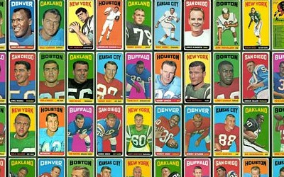 Virtual uncut sheet of 1965 Topps football cards