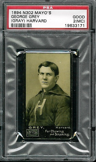 1894 Mayo Cut Plug #15 - George Gray - PSA 2 mc
