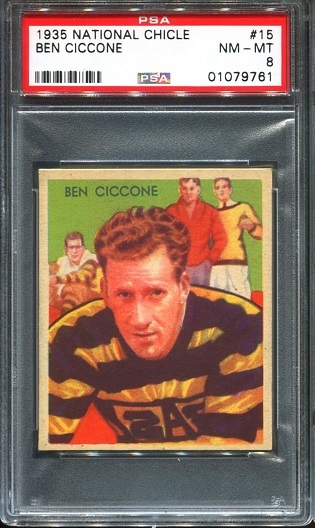 1935 National Chicle #15 - Ben Ciccone - PSA 8