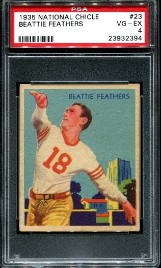 1935 National Chicle #23 - Beattie Feathers - PSA 4