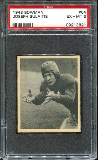 1948 Bowman #64 - Joe Sulaitis - PSA 6