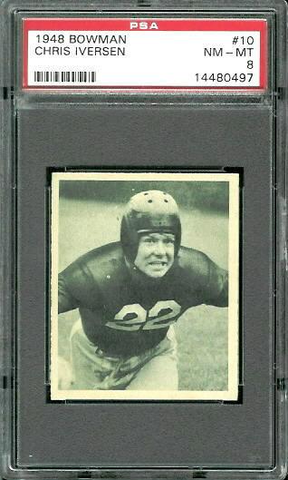 1948 Bowman #10 - Chris Iverson - PSA 8