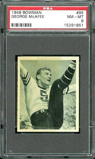 1948 Bowman #95 - George McAfee - PSA 8