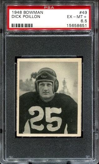 1948 Bowman #49 - Dick Poillon - PSA 6.5
