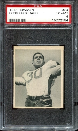 1948 Bowman #34 - Bosh Pritchard - PSA 6