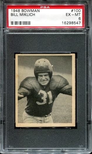 1948 Bowman #100 - Bill Miklich - PSA 6