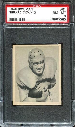 1948 Bowman #51 - Gerard Cowhig - PSA 8