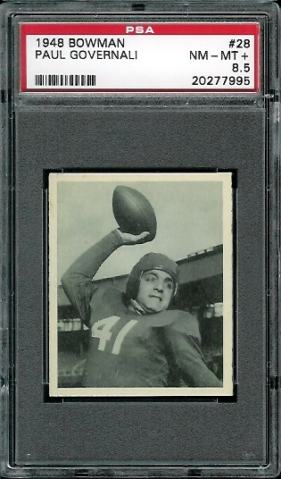 1948 Bowman #28 - Paul Governali - PSA 8.5