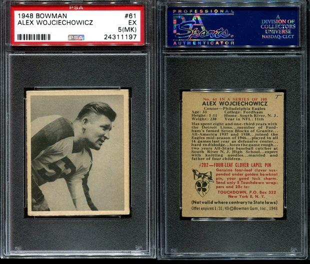 1948 Bowman #61 - Alex Wojciechowicz - PSA 5 mk