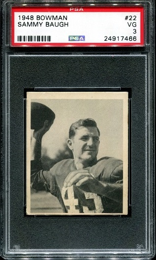 1948 Bowman #22 - Sammy Baugh - PSA 3