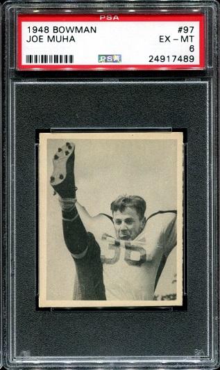 1948 Bowman #97 - Joe Muha - PSA 6