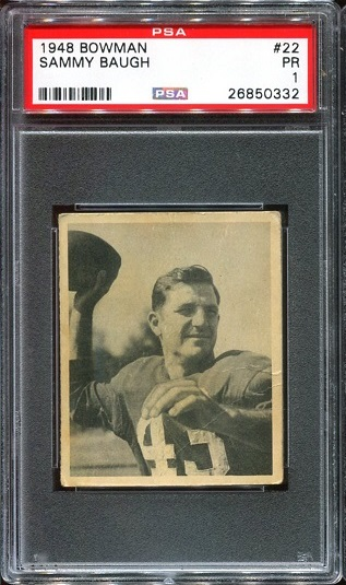 1948 Bowman #22 - Sammy Baugh - PSA 1