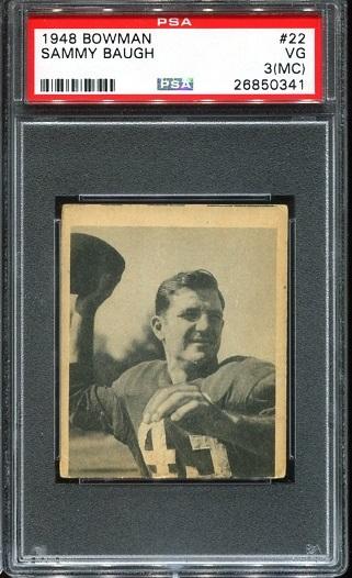 1948 Bowman #22 - Sammy Baugh - PSA 3 mc