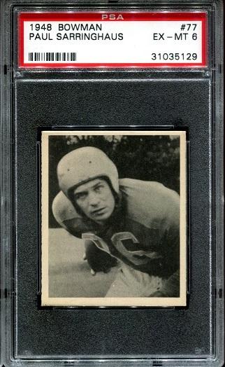 1948 Bowman #77 - Paul Sarringhaus - PSA 6