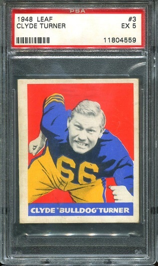 1948 Leaf #3 - Bulldog Turner - PSA 5