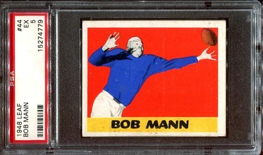 1948 Leaf #44 - Bob Mann - PSA 5