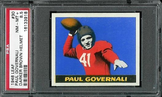 1948 Leaf #30B - Paul Governali - PSA 8.5