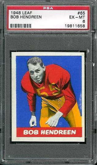 1948 Leaf #65 - Bob Hendren - PSA 6