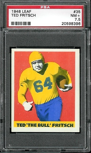 1948 Leaf #35 - Ted Fritsch Sr. - PSA 7.5