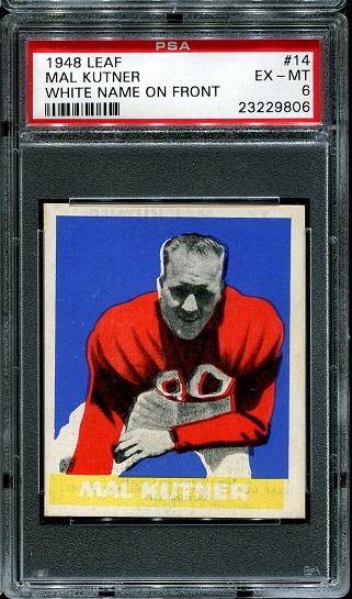 1948 Leaf #14W - Mal Kutner - PSA 6