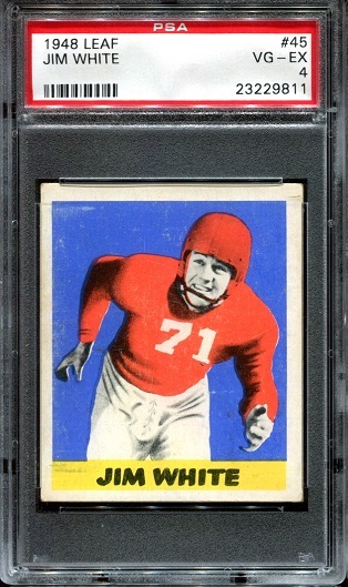 1948 Leaf #45 - Jim White - PSA 4