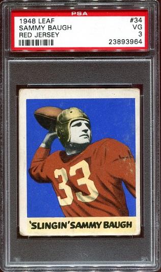 1948 Leaf #34 - Sammy Baugh - PSA 3
