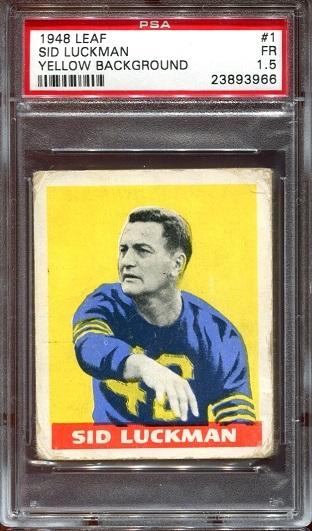 1948 Leaf #1 - Sid Luckman - PSA 1.5