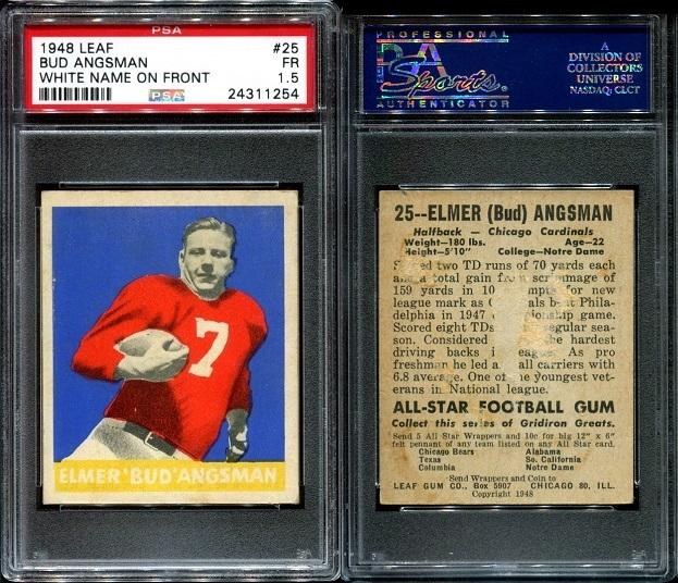 1948 Leaf #25W - Elmer Angsman - PSA 1.5