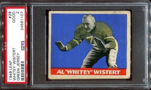 1948 Leaf #28G - Al Wistert - PSA 2
