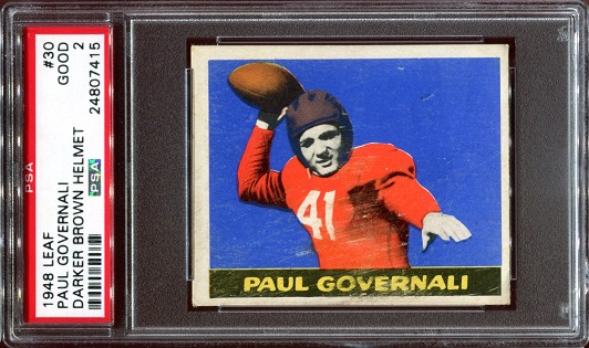 1948 Leaf #30B - Paul Governali - PSA 2