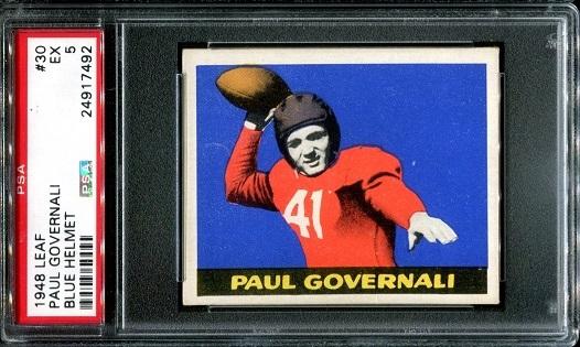1948 Leaf #30B - Paul Governali - PSA 5