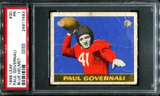 1948 Leaf #30B - Paul Governali - PSA 1