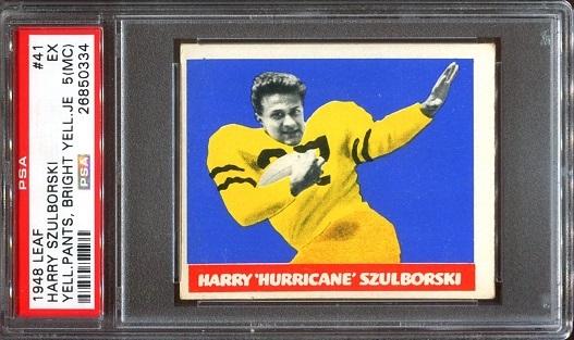 1948 Leaf #41Y - Harry Szulborski - PSA 5 mc