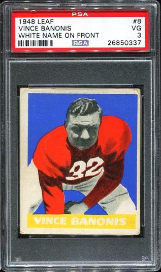 1948 Leaf #8W - Vince Banonis - PSA 3