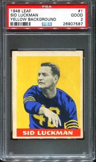 1948 Leaf #1 - Sid Luckman - PSA 2