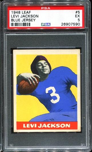 1948 Leaf #5 - Levi Jackson - PSA 5