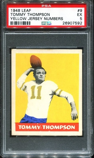 1948 Leaf #9Y - Tommy Thompson - PSA 5