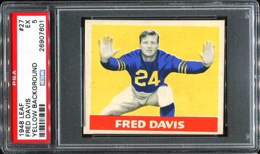 1948 Leaf #27 - Fred Davis - PSA 5
