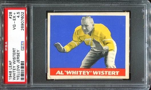 1948 Leaf #28Y - Al Wistert - PSA 4.5