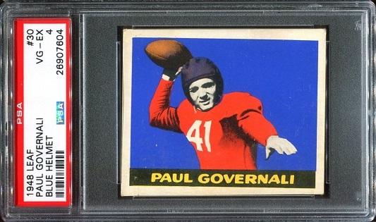 1948 Leaf #30B - Paul Governali - PSA 4