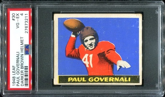 1948 Leaf #30B - Paul Governali - PSA 4